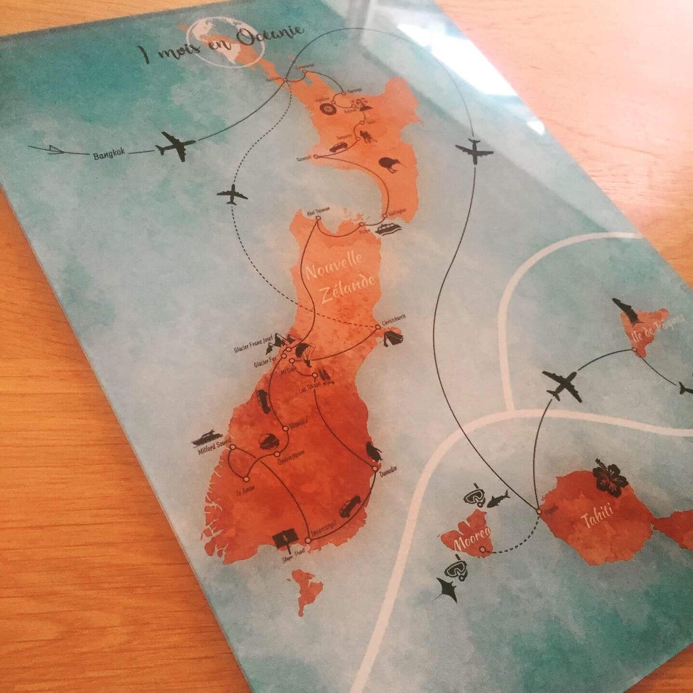 Carte de voyage Graphitour